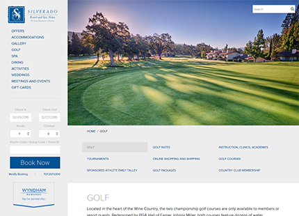 Napa Valley Golf Resorts – Silverado Resort and Spa – CA Wine Country Golf Courses